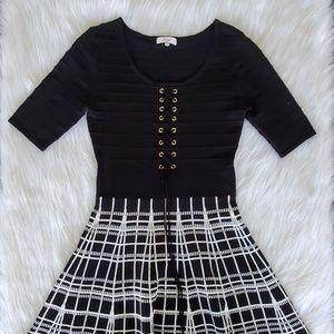 Candie's Geometric Knit Lace Dress